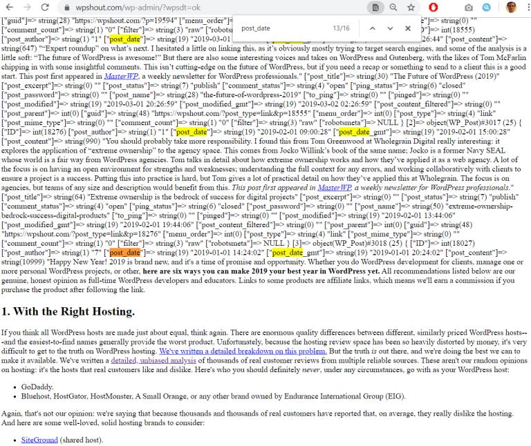 débogage du tutoriel de développement du plugin wordpress