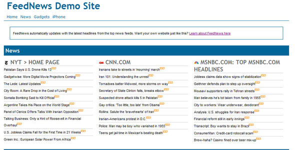 News Feed Php Script