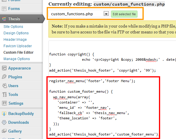 Thesis-Custom-File-Editor-Add-WordPress-Footer-Menu