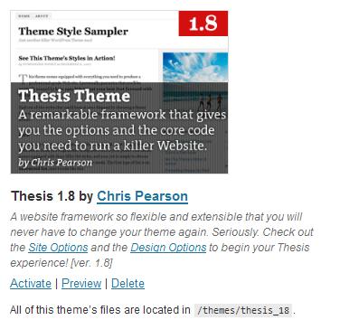 Thesis Theme for WordPress Blogs