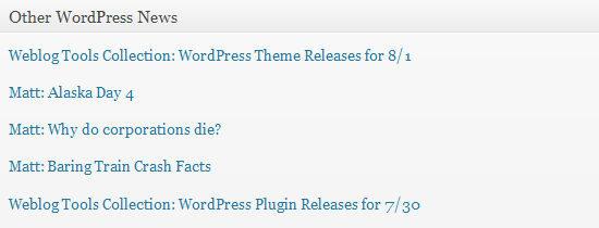 Dashboard-Other WordPress News