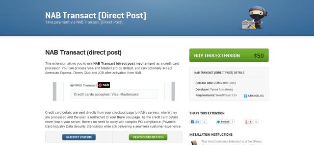 NAB Transact  Direct Post