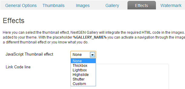 Next Gen Gallery Effects