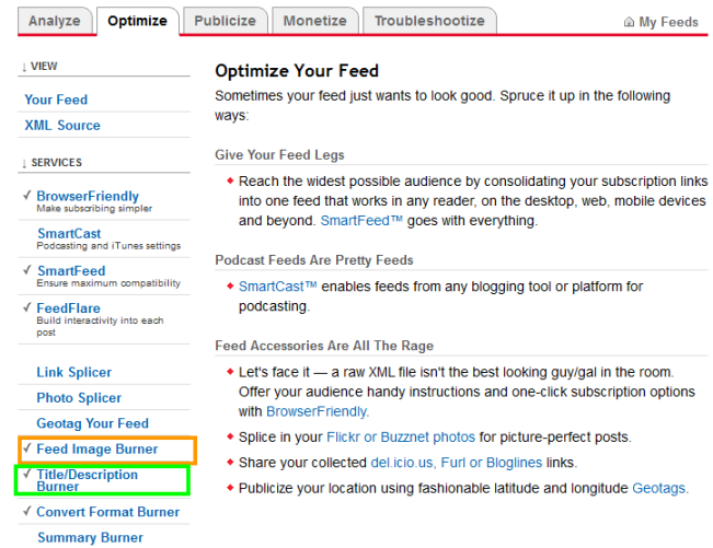 Optimize Your Feed