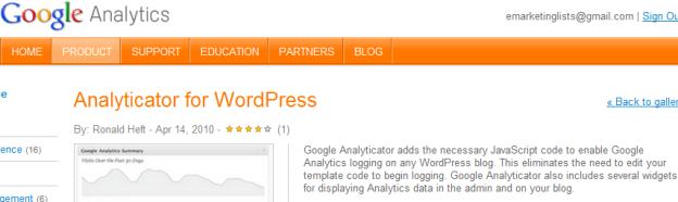 Setup Analytics for WordPress