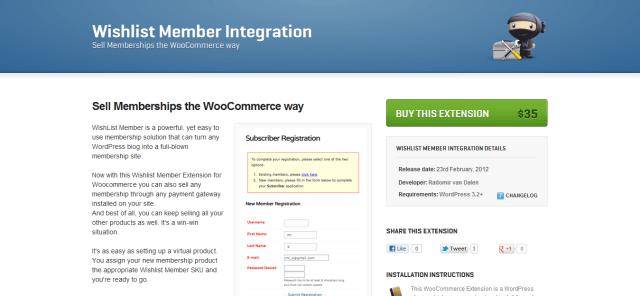 Wishlist Member Integration