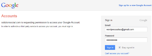 Connecting Google to WordPress
