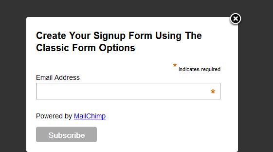 MailChimp Popup Form