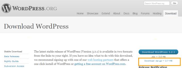 Download WordPress Software