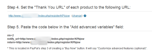 Advanced Paypal variables