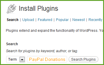 Install PayPal Donations Plugin
