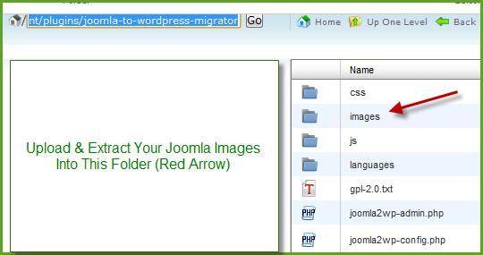 Joomla to WordPress Migrator Plugin Images Folder
