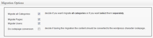 Migration Options