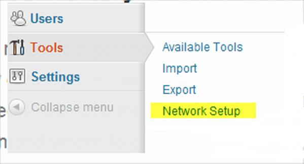 WordPress Tools - Network Setup