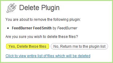 Delete Plugin Files