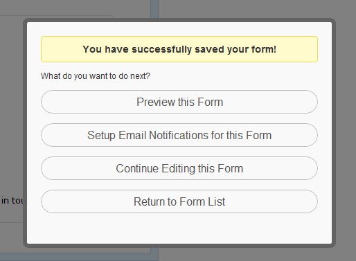 Save and Preview Form