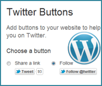 Twitter Follow and Share Buttons