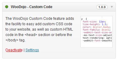 WooDojo Custom Code