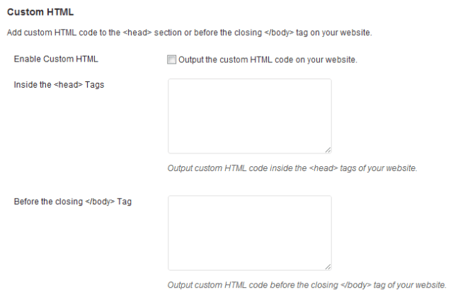 WooDojo Custom HTML
