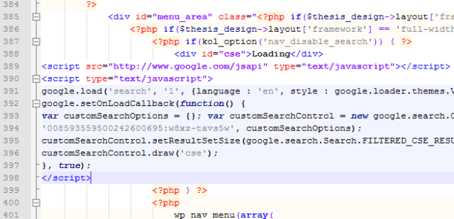 md_functions.php File with Google Custom Code