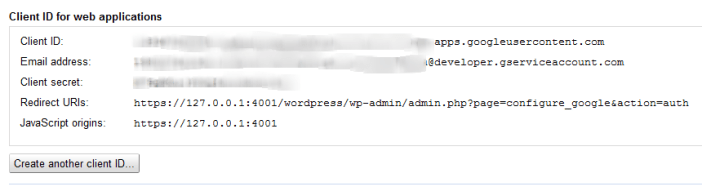 Client ID for web applications