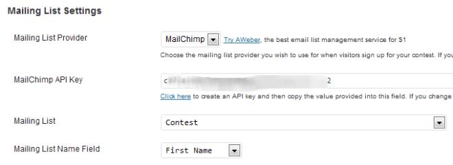 Mailing List Settings