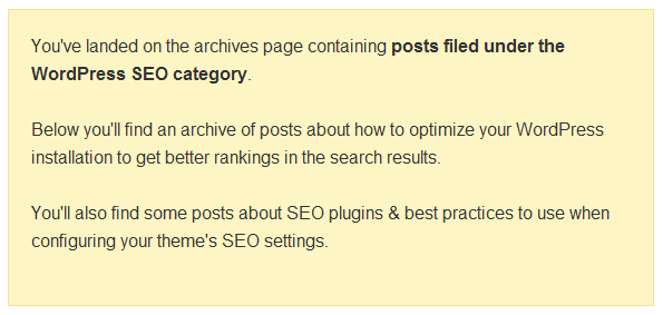 Posts Filed Under The WordPress SEO Category