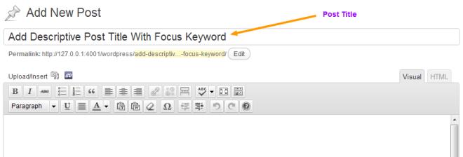 Add Descriptive Post Title With Focus Keyword