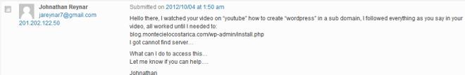 Bad Blog Comment