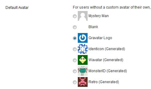 Choose Default Avatar