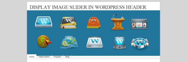 Display Image Slider In WordPress Header