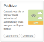 Use Publicize to share your posts automatically to your social networks