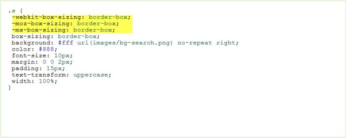 After Cross Browser Prefix Added