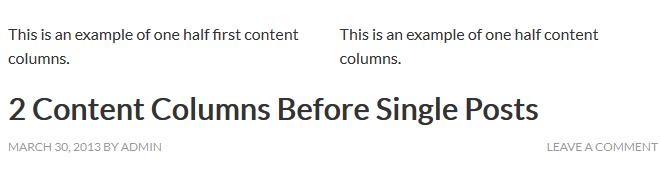 content columns single posts