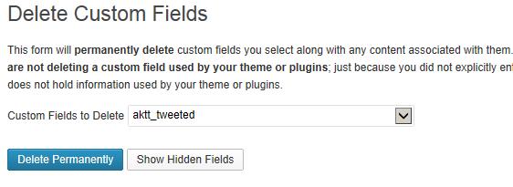 delete custom fields plugin