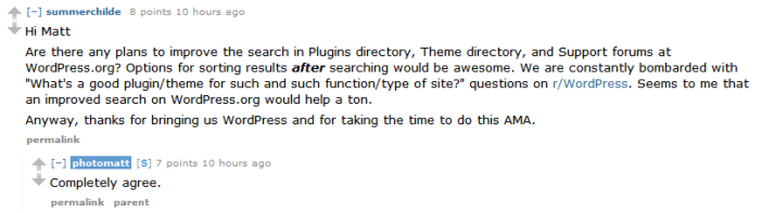 improve wordpress search