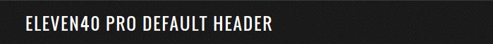 default header