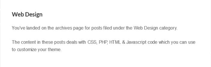 default archive description