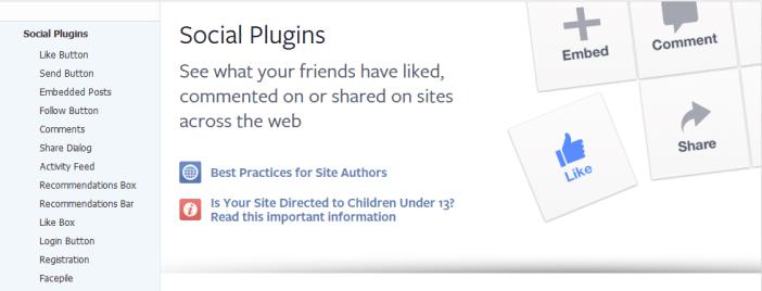 social plugins facebook