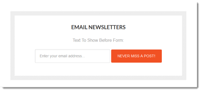 email newsletter form