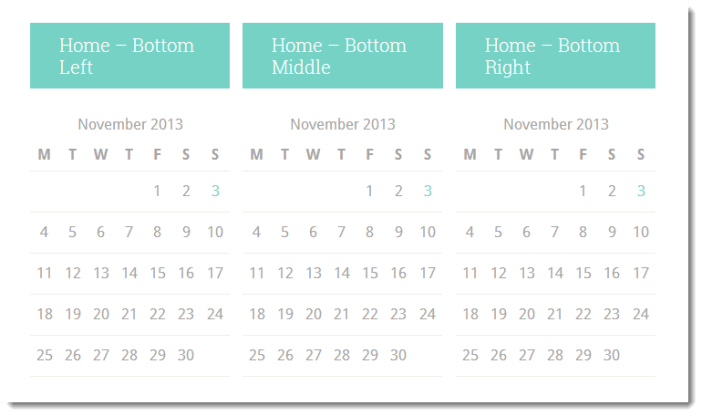 home bottom middle widgets