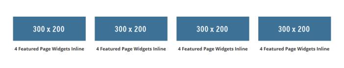 4 featured page widgets inline