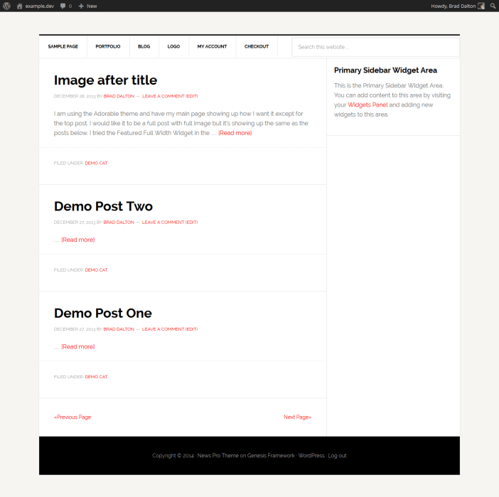 paginated pages