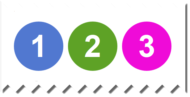 colored number circle