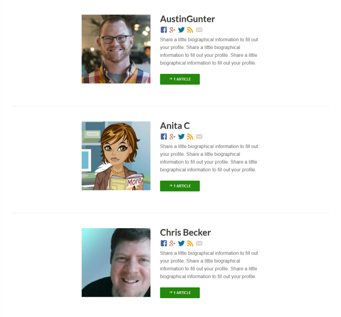 Authors Template