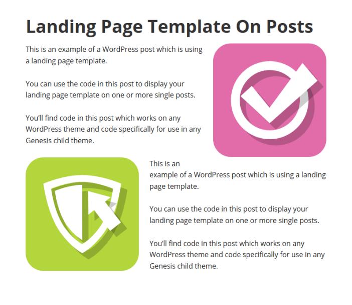 Use Landing Page on Single Posts