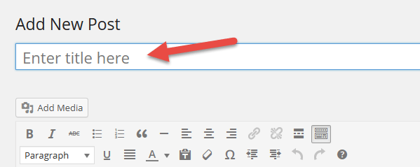 default enter title here text
