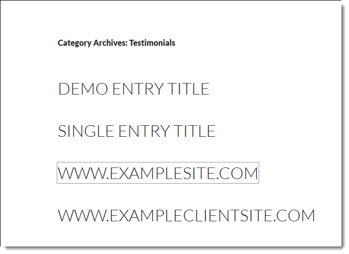 post titles only twenty fourteen category archive page
