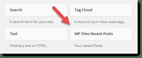 Widgets - Recent Posts