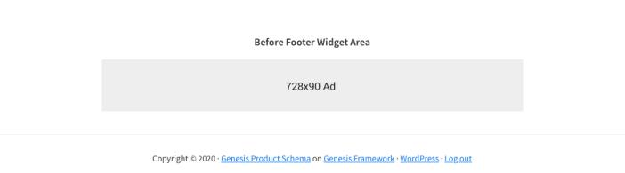New Widget Area Before Footer
